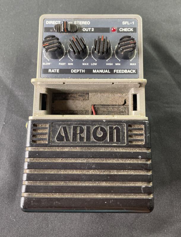 Arion SFL-1 Stereo Analog Flanger Rare Vintage Guitar Effect Pedal MIJ Japan
