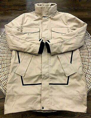 Under Armour UAS Men's Washed Canvas 3-in-1 Parka Jacket 1316046 Tan Size Large