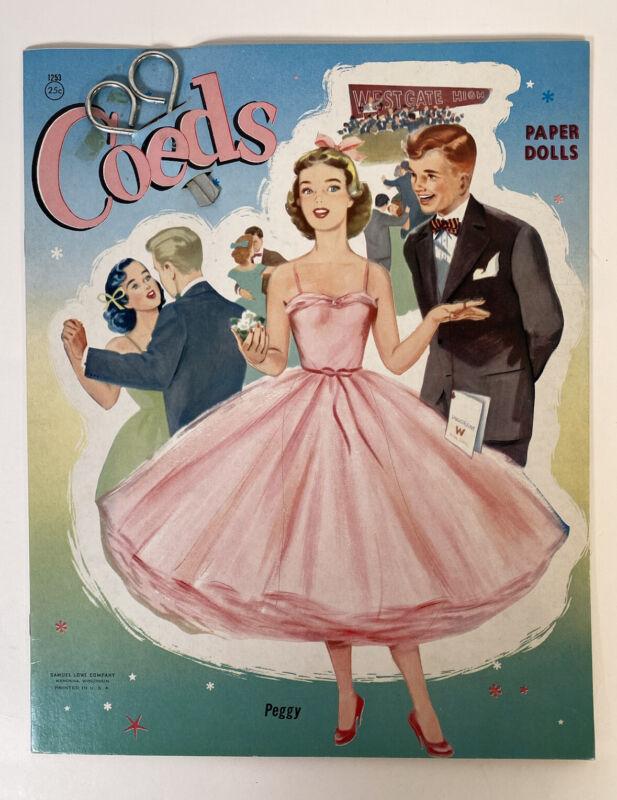 Paper Dolls - Coeds Samuel Lowe Company 1955 Uncut With Original Scissors