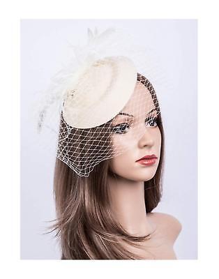 Fascinators Hats 20s 50s Hat Pillbox Hat Cocktail Tea Party Headwear with Veil