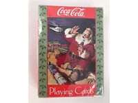 Three Different Collectible1940s WW II Era Coca Cola Playing Cards  GRP-0122