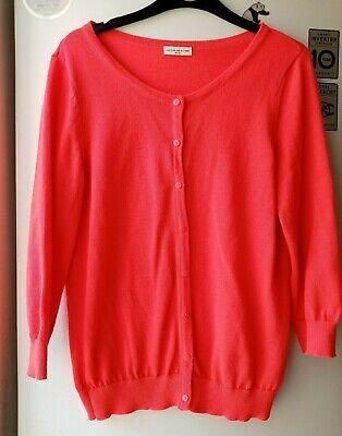 jacqueline de yong cardigan bright orange size Medium fair conditions