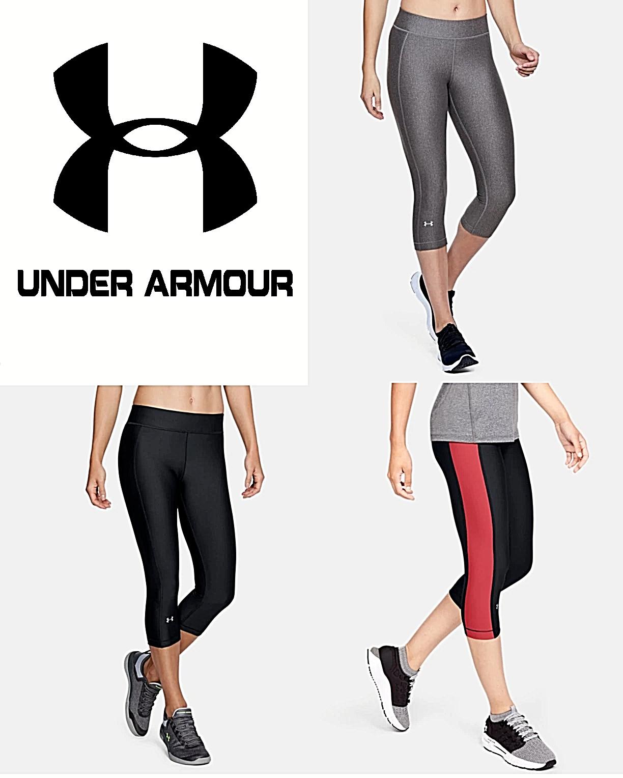 Under Armour Women's Heatgear Capri Stretch Yoga Pants Run W
