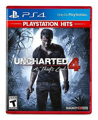 Uncharted 4: A Thief's End (PS4) BRAND NEW FACTORY SEALED PlayStation 4 Hits