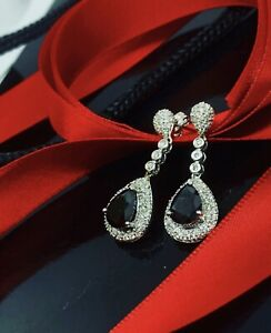 18ct White Gold Drop Earrings Revesby Bankstown Area Preview