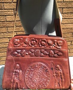 Vintage Mexican leather handbag