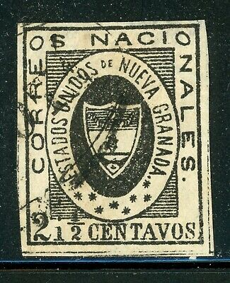 Colombia Classic Used Selections: Scott #13 2½c Black (1861) CV$400+