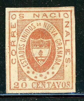 Colombia Classic MNG Selections: Scott #17 20c Red (1861) CV$400+