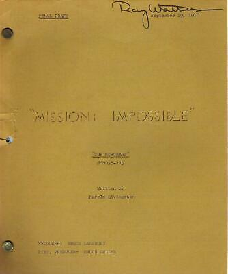 MISSION: IMPOSSIBLE original television script