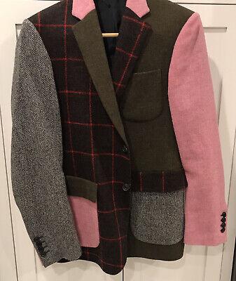 Wooster + Lardini Men's Patchwork Blazer Jacket Coat 40