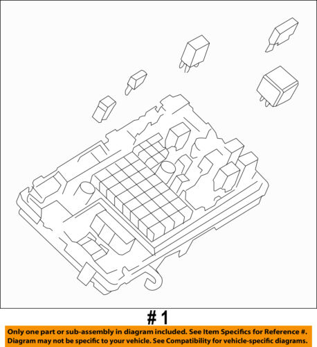details about gm oem electrical fuse relay junction block 25888290 engine fuse box fuse gm box 25888290 #3