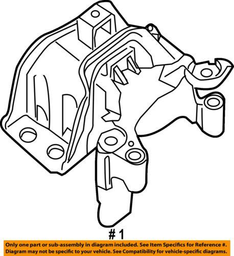 Nissan Oem 07 12 Sentra Engine Motor Mount Torque Strut 112109ah0a
