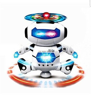 Dancing Robot Spinning Musical Toys Boys Kids Toddler Light Helicopter Juguete