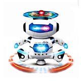 Dancing Robot Spinning Musical Toys Boys Kids Toddler Light Helicopter Juguete