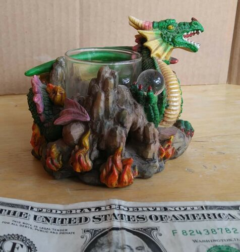 Dragon Gothic Mythical 3 in Resin Candle Holder by Adams Apple