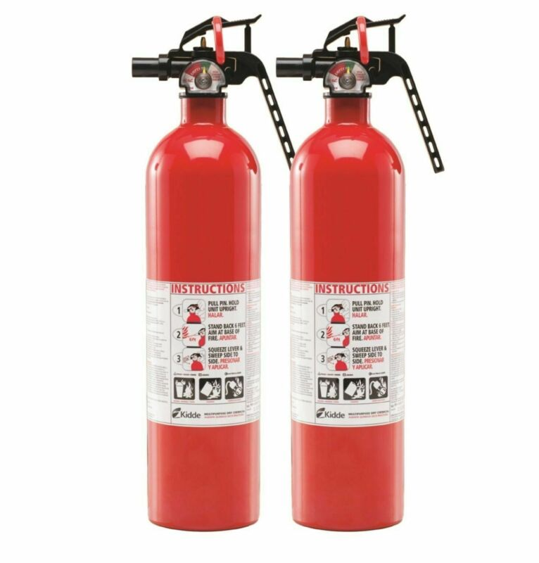 Kidde Multi Purpose Fire Extinguisher 1A10BC, 2 Pack, Rust Resistant 2.5lb