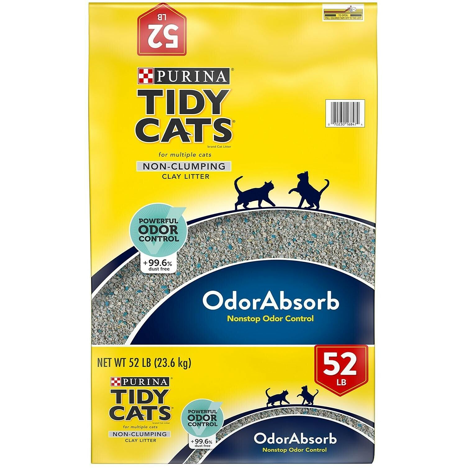 Purina Tidy Cats Non-Clumping Cat Litter for Multiple Cats