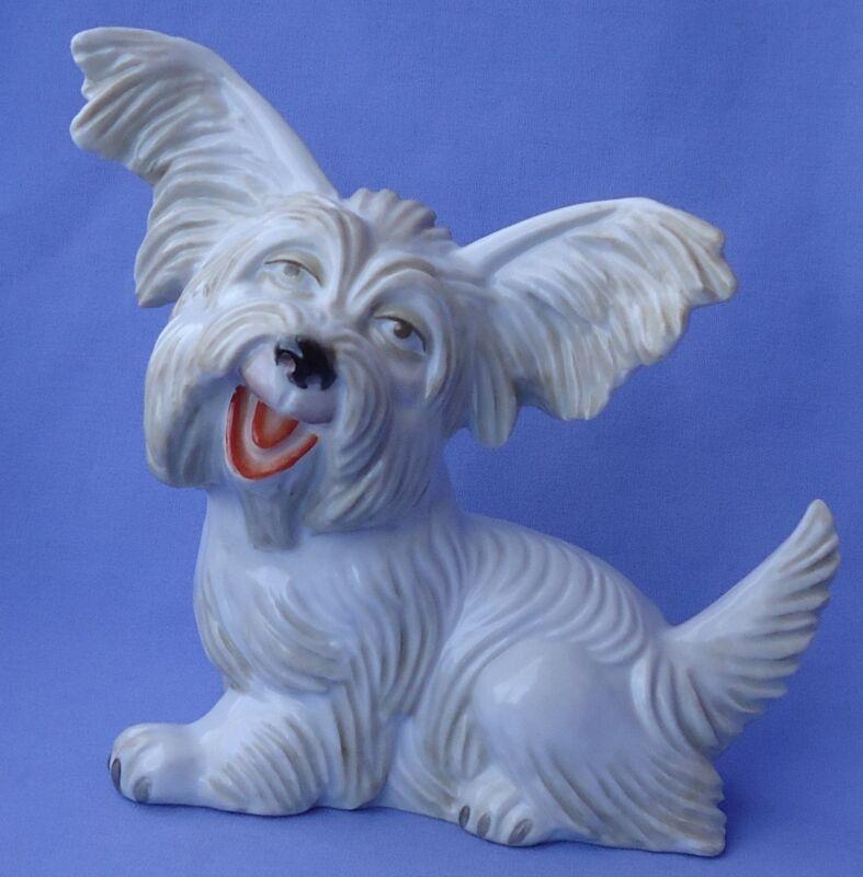 "ROSENTHAL 9"" PAPILLON SKYE SILKY TERRIER BRIARD DOG GERMANY 1930s"