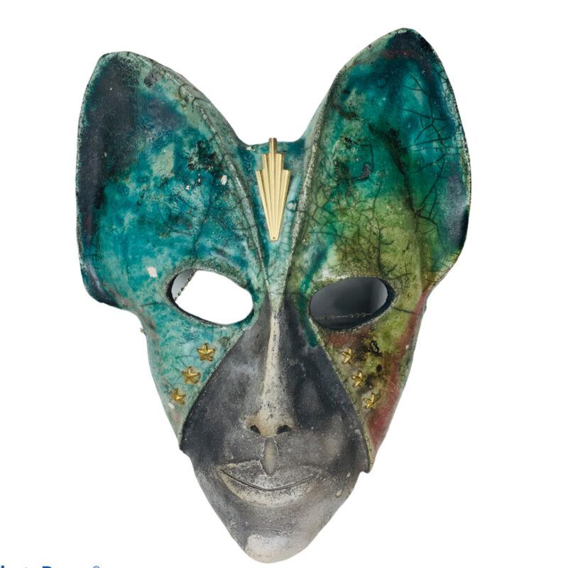 Vintage Clay Mask Signed VD 92 Art Deco Avatar Mask