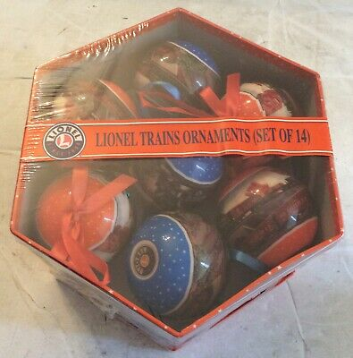 LIONEL TRAINS ORNAMENTS SET OF 14 AROUND THE TREE ,CHRISTMAS TREE BALLS