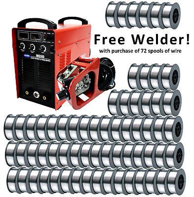 Flux Core Mig Welding Wire W Free 500a Welder 72 Spools 0.045 E71t-1 2376 Lb