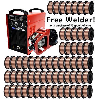 Solid Core Mig Welding Wire W Free 350a Welder 72 X 33lb Er70s-6 .035.045