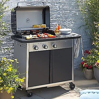 Rockwell 310 3 burner Gas Black Barbecue- New 6823