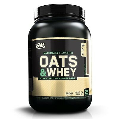 Optimum Nutrition 100% Natural Oats & Whey Protein - 3 lbs MILK CHOCOLATE for sale  Shipping to India