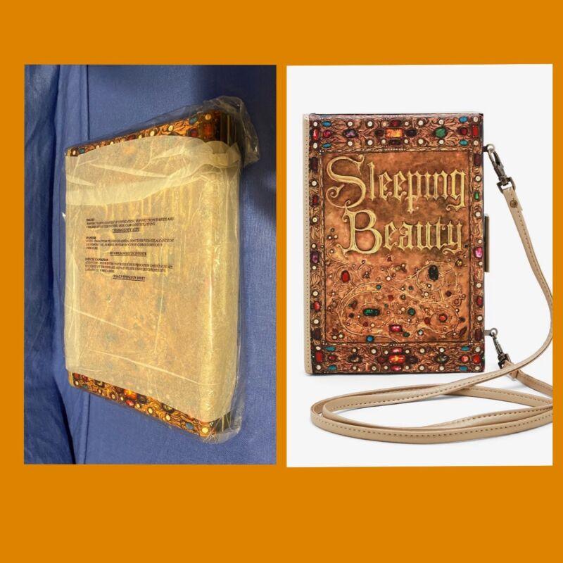 Loungefly Disney Sleeping Beauty Aurora Book Crossbody Clutch Handbag w/Strap
