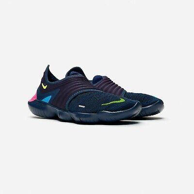 Nike Free RN Flyknit 3.0 Mens Midnight Navy Running Shoes AQ5707-400 UK Size 9