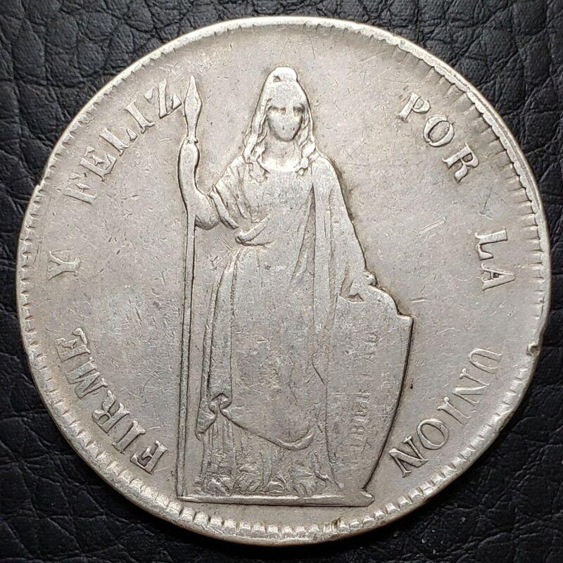 Silver 1848 Lima MB Peru 8 Reales