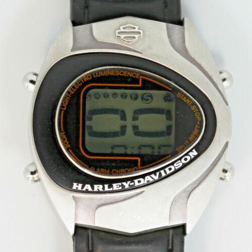 Harley Davidson Vintage Unworn Digital Alarm Chrno Day Date Very Rare Watch $249