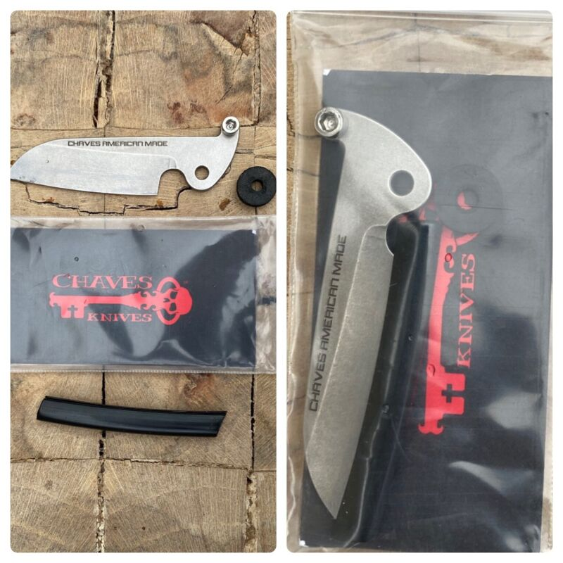 Chaves American Made Knives Keybar Friction Folder Blade - Brand New