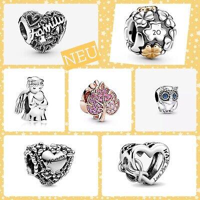 ⭐️ Charm Anhänger Family Eule Beads Momente kompatibel m. Pandora 925er Silber⭐️