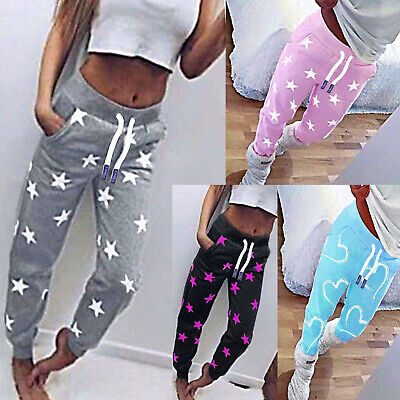 Damen Jogginghose Sporthose Fitness Sport Schlafanzug Hose Trainingshose Neu