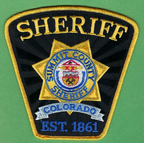 SUMMIT COUNTY SHERIFF COLORADO SHOULDER PATCH