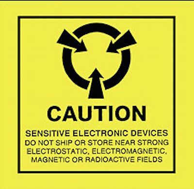 Esd 2x2 Caution Electrostatic Sensitive Devices Anti Static Warning 500 Labels