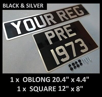 Number Plates Pre 1973 Cars Vintage Metal Classic UK Aluminium Oblong & Square