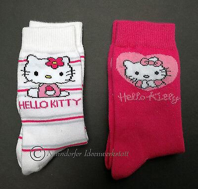 HELLO KITTY Socken Strümpfe 2er  Gr. 23 24 25 26 versch. Motive mit BIOBAUMWOLLE