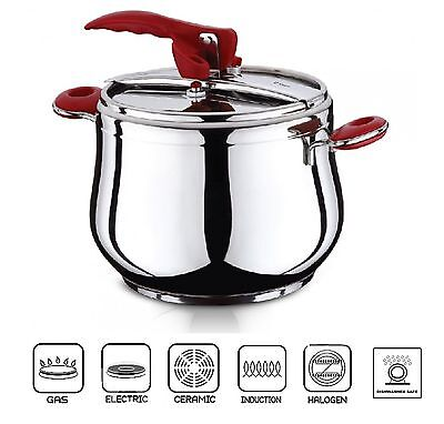 7 Litre Pressure Cooker Stainless Steel Stovetop Stockpot Induction Base