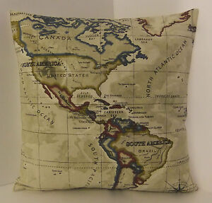 SINGLE-DESIGNER-WORLD-ATLAS-MAP-CUSHION-COVERS-CREAM-BLUE-BLACK-CREAM-BACK