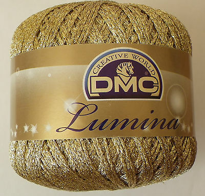 DMC  Lumina Crochet thread metallic Gold L3821