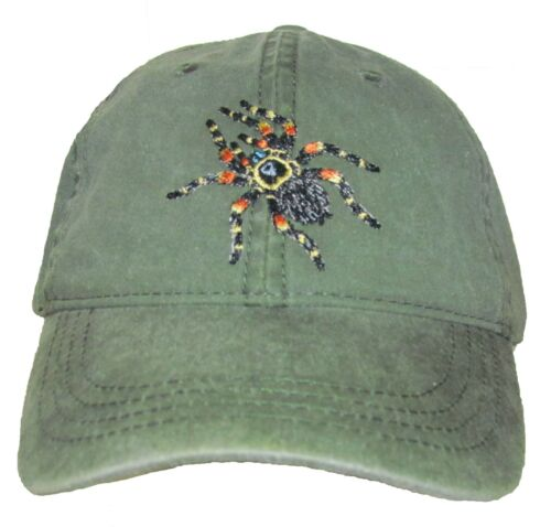 Red-Kneed Tarantula Embroidered Cotton Cap NEW
