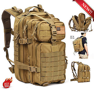 Military Tactical Assault Pack Backpack Army Molle Waterproof Sling Bug Out Bag