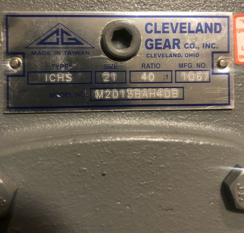 CLEVELAND SPEED REDUCER, Gear Box  ICHS, Size 21,Ratio 40:1