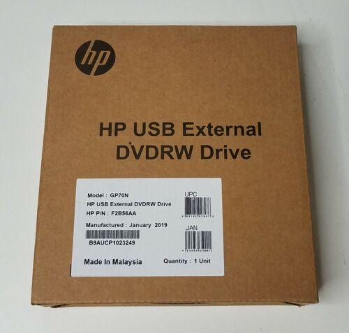 NEW SEALED HP USB External DVDRW Drive GP70N F2B56AA
