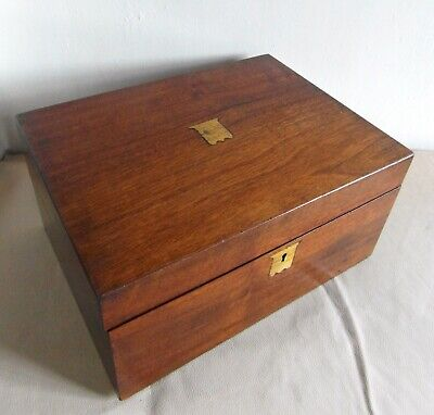 Victorian Mahogany Writing Slope/Box - For Restoration