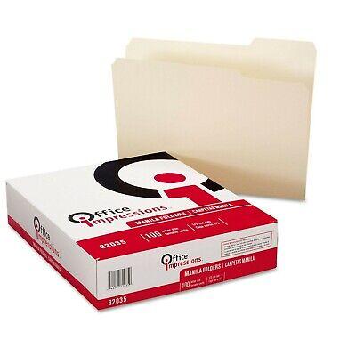 Office Impressions 13 Tab File Folders Manila Letter 100 Ct.