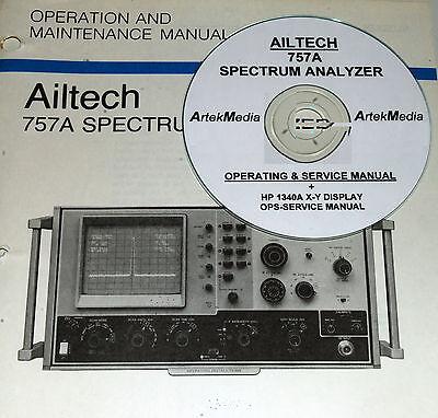 Ailtech 757a Spectrum Analyzer Hp 1340a Display Operating Service Manuals