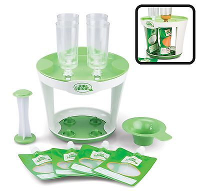 New Baby Food Maker Squeeze Station Pack Disposable Pouches Free Shipping USA